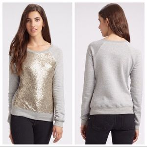 Elizabeth & James crew neck sweatshirt sequin sz L